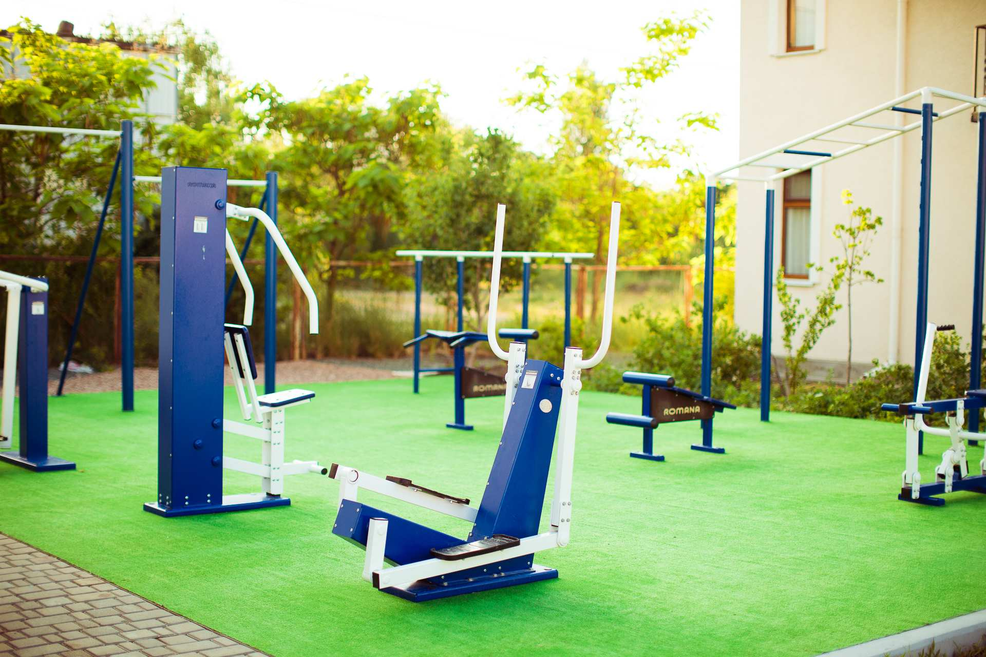 Playground with gym